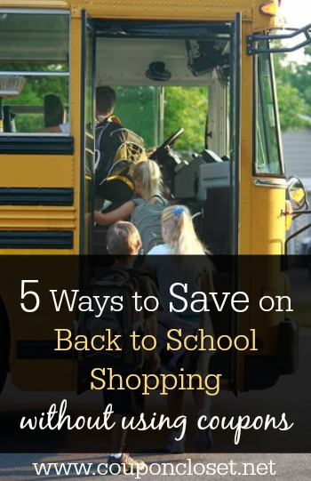 easy tips to help you save on back to school shopping