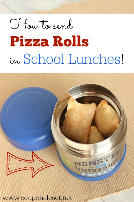 How to Send Pizza rolls in School lunches - It is so easy to do and keep them warm! This is one of our favorite kid school lunch ideas.