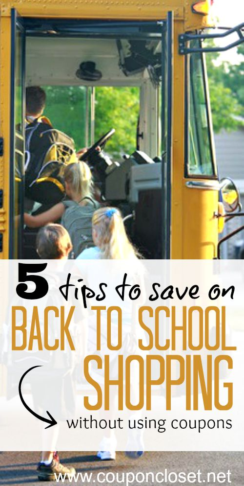 save on back to school shopping without using coupons