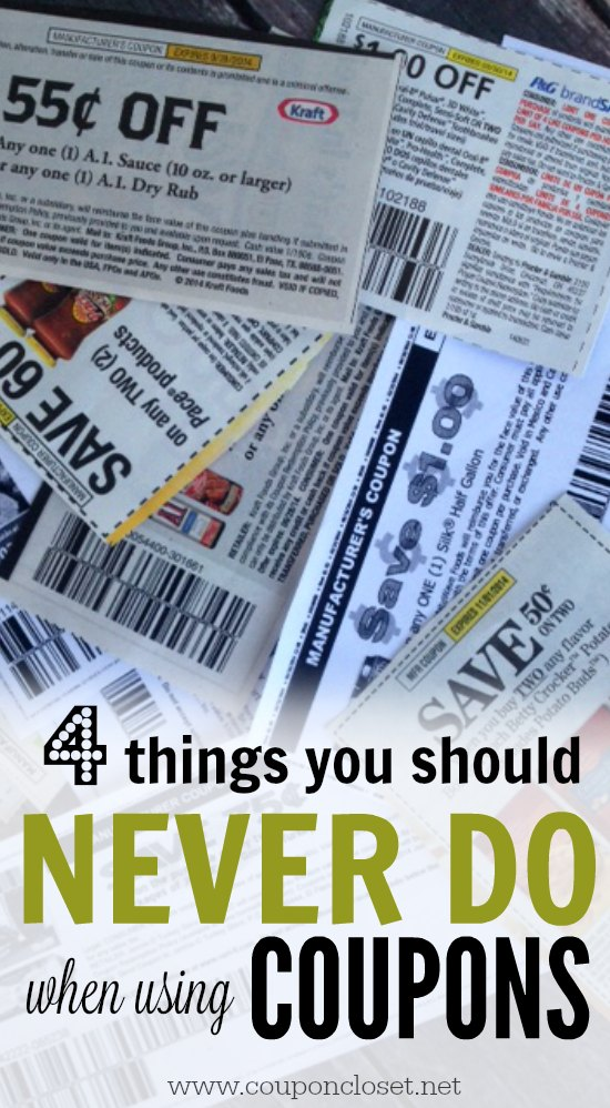 4 things you should never do when using coupons