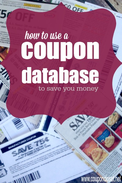 how to use a coupon database