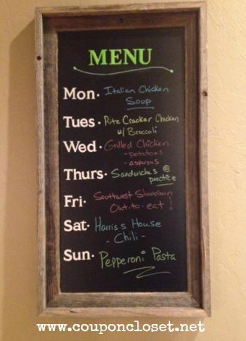 menu plan - 9-8