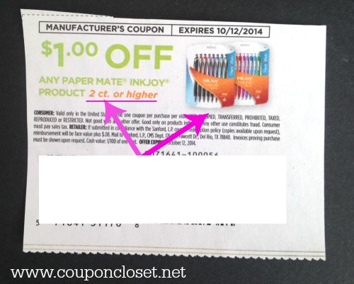 pay attention to words - how to read coupons