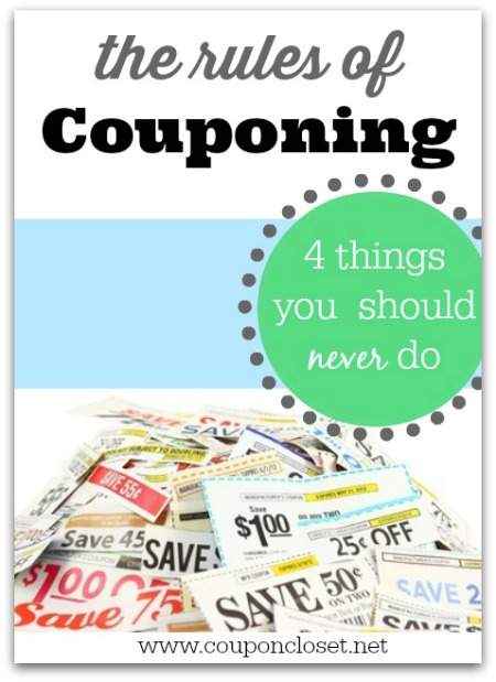 rules of couponing so you can save more money