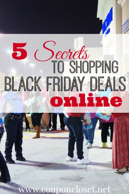 Save big with black Friday online shopping. Here are 5 secrets to save big when black friday shopping online. Friday online shopping is so easy to do!