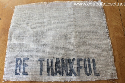 be thankful burlap placemats