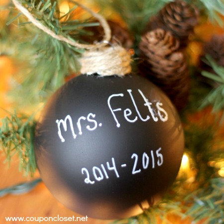 homemade chalk board paint ornament