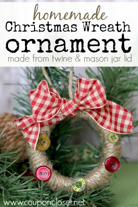 homemade christmas wreath ornament