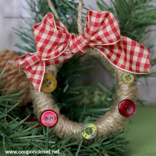 mason jar wreath ornament