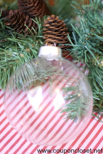 need a glass ornament - or from dollar store