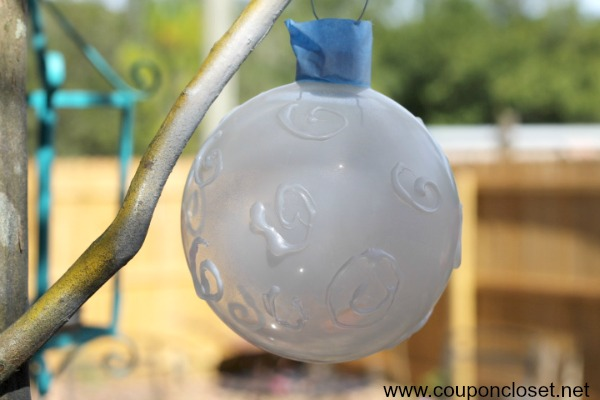 spray paint the ornament