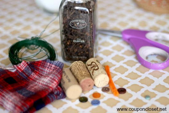 supplies for wine cork ornament