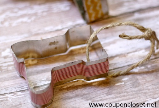 homemade christmas ornaments - washi tape cookie cutter