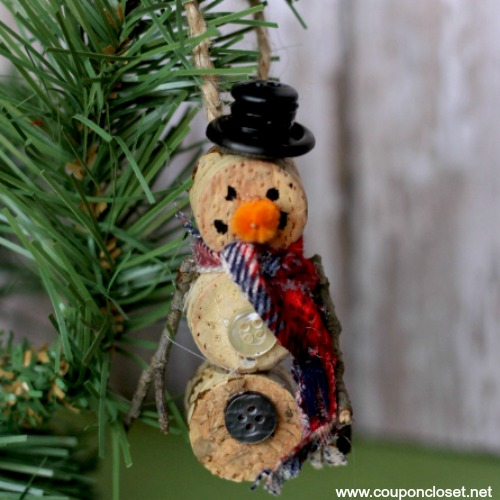 wine cork diy ornament