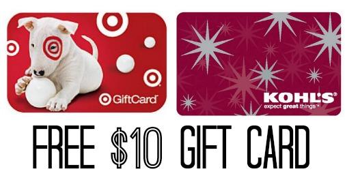 free ten dollar gift card