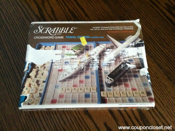 scrabble game from thift store