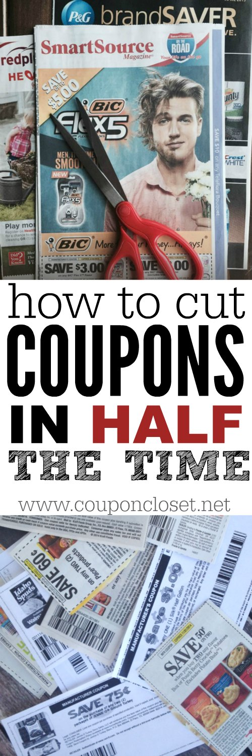 cut coupons in half the time