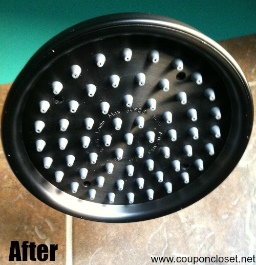 how to clean shower head - after