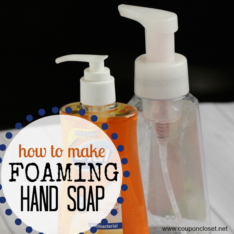 how to make foaming hand soap square
