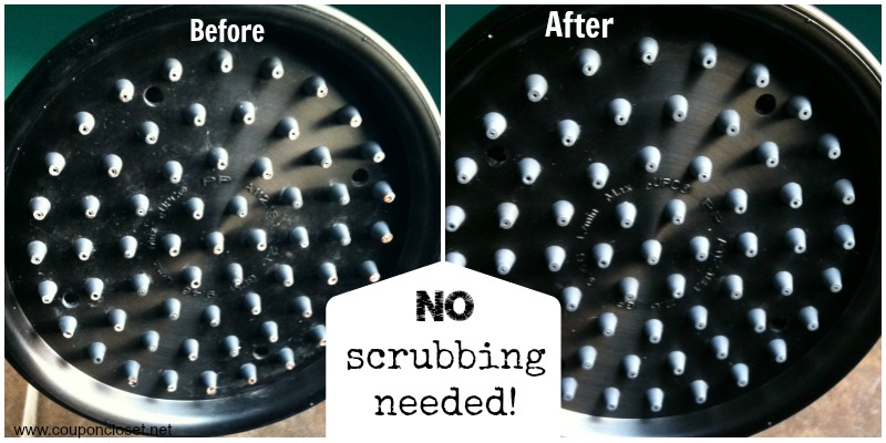 no scrubbing for shower head