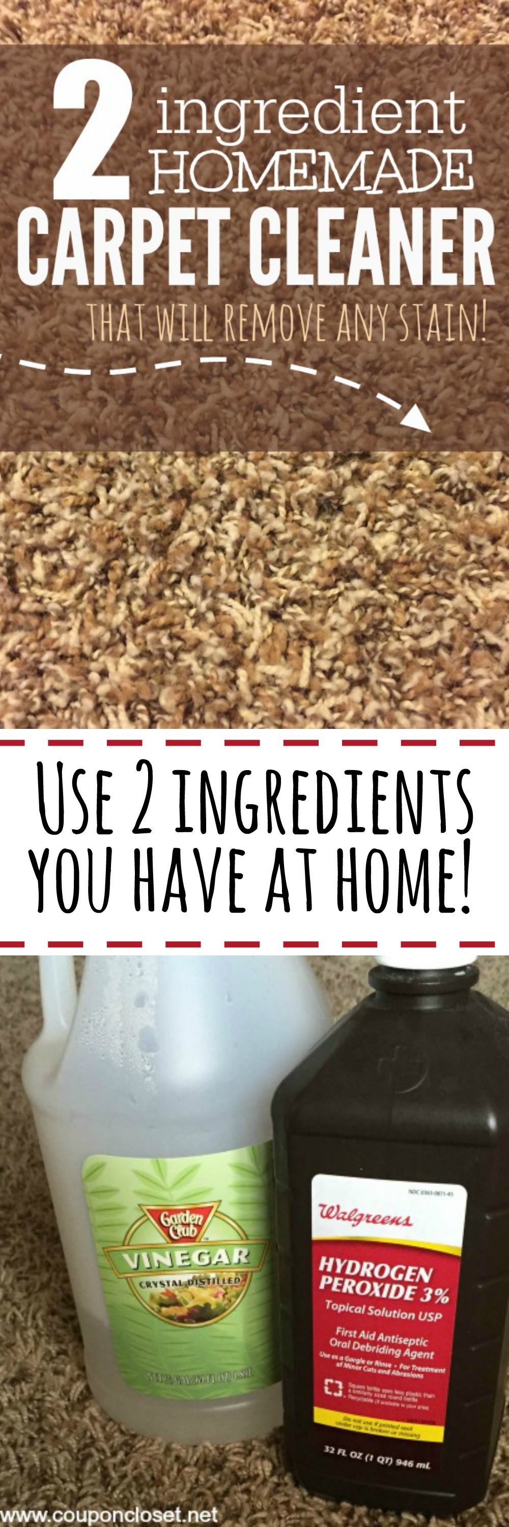 Homemade Carpet Cleaner - only 2 ingredients - One Crazy Mom