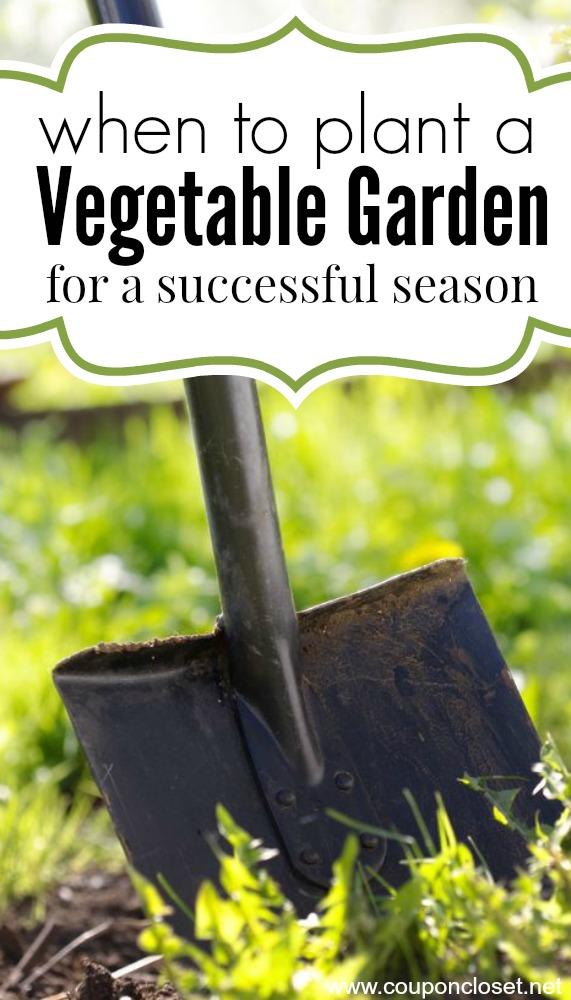 when to plan a garden