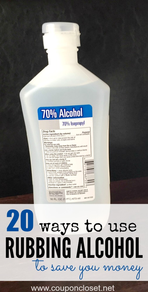 20 most common rubbing alcohol uses one crazy mom for Ice tropez alcohol percentage