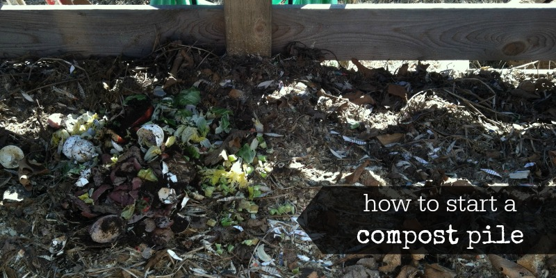 how to start a compost pile facebook image