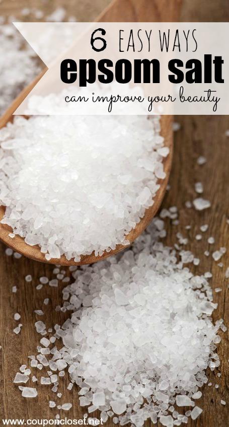 uses for epsom salt - beauty