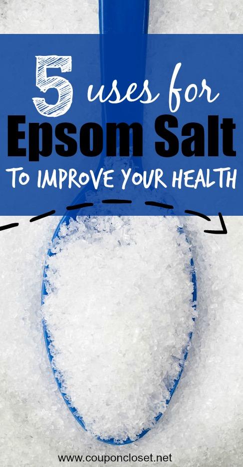 uses for epsom salt - health