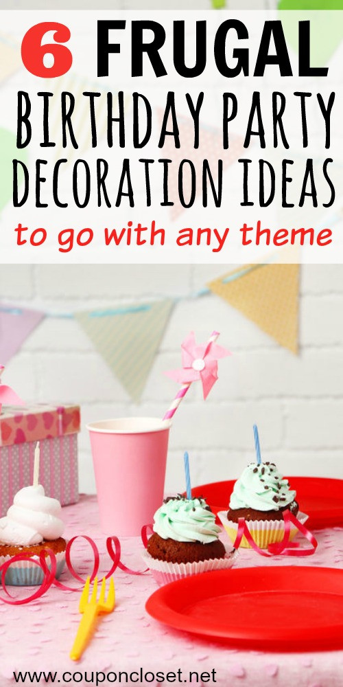 frugal birthday party decoration ideas