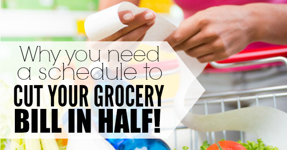 need a schedule to cut your grocery bill in half facebook