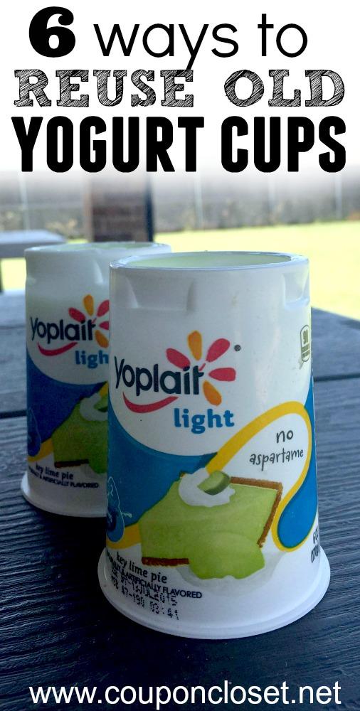 6 ways to reuse yogurt cups - One Crazy Mom
