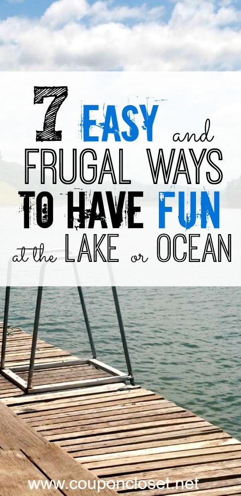 Here are some frugal but fun things to do on the water that won't break the bank. These things to do on the water are still a lot of fun, but frugal too.
