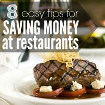 tips for saving money at restaurnats square