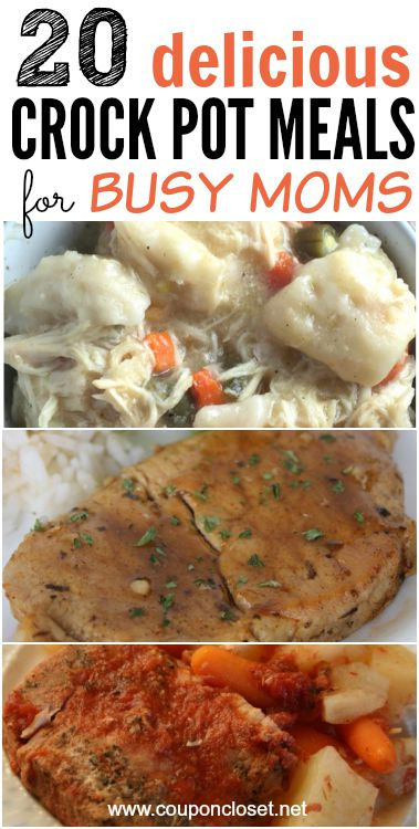 20 delicious crock pot meals for busy mom