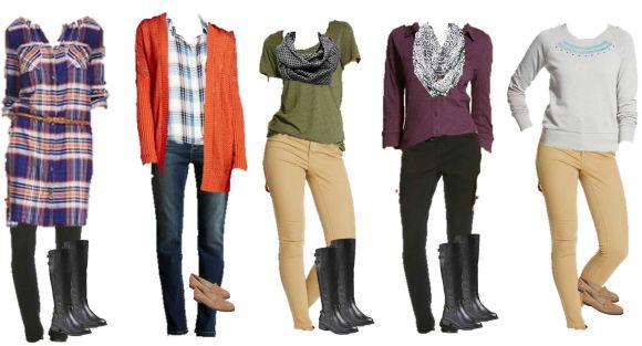 9.1 Mix & Match Fashion - Target Fall Styles 1-5