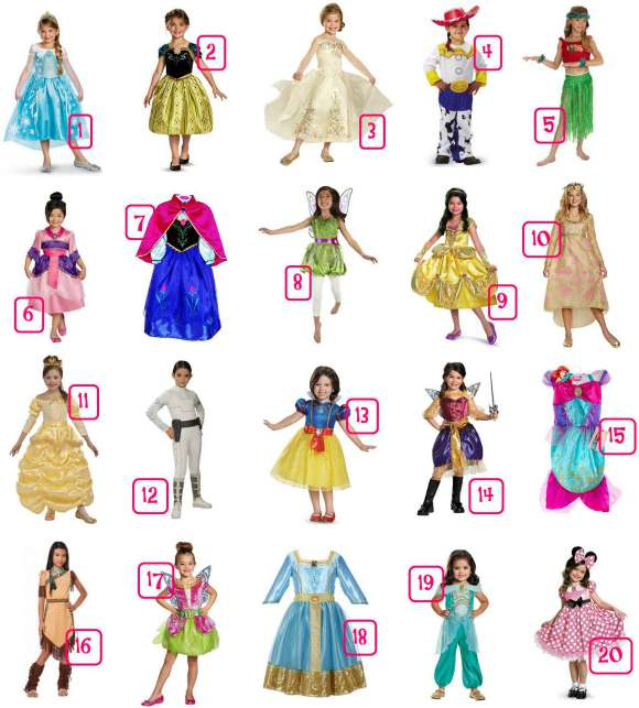 Disney Girls Costumes Under $30 NO HEADER