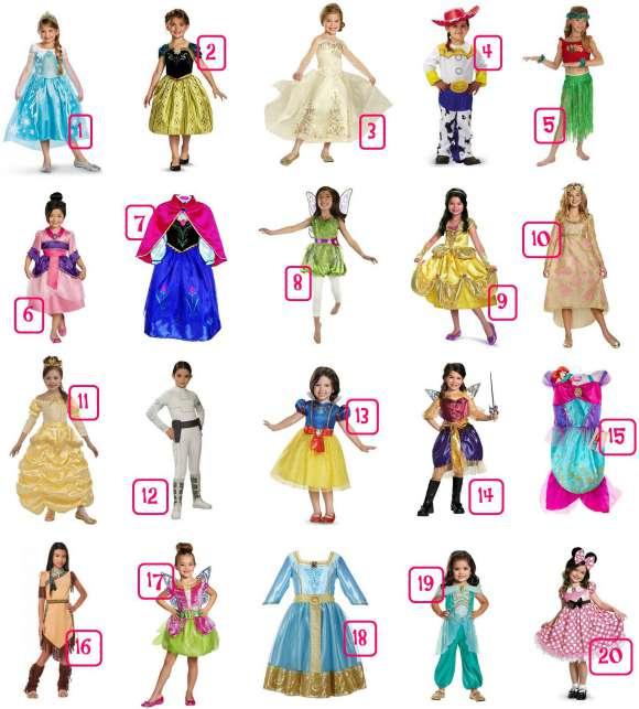 Disney Girls Costumes Under $30 NO HEADER