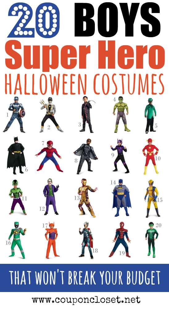 boys super hero halloween costumes