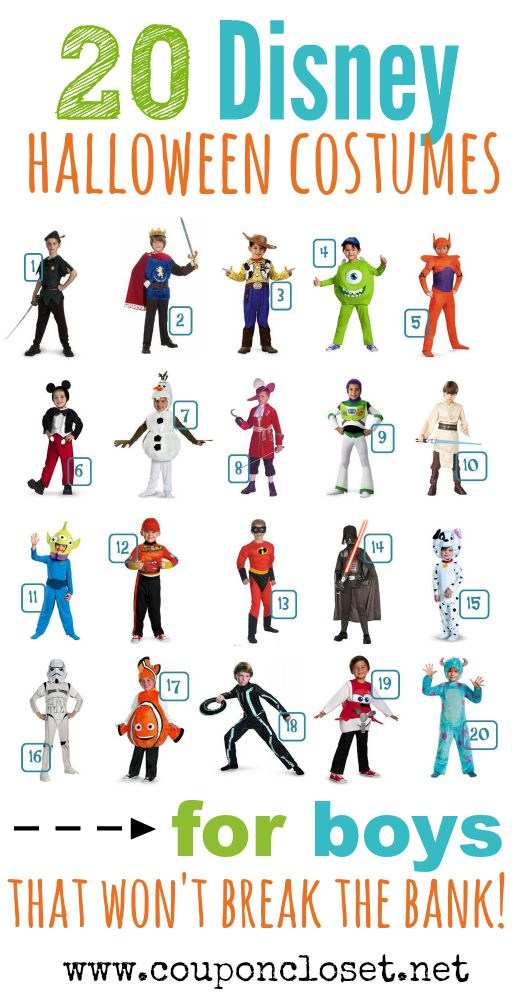 disney halloween costumes for boys