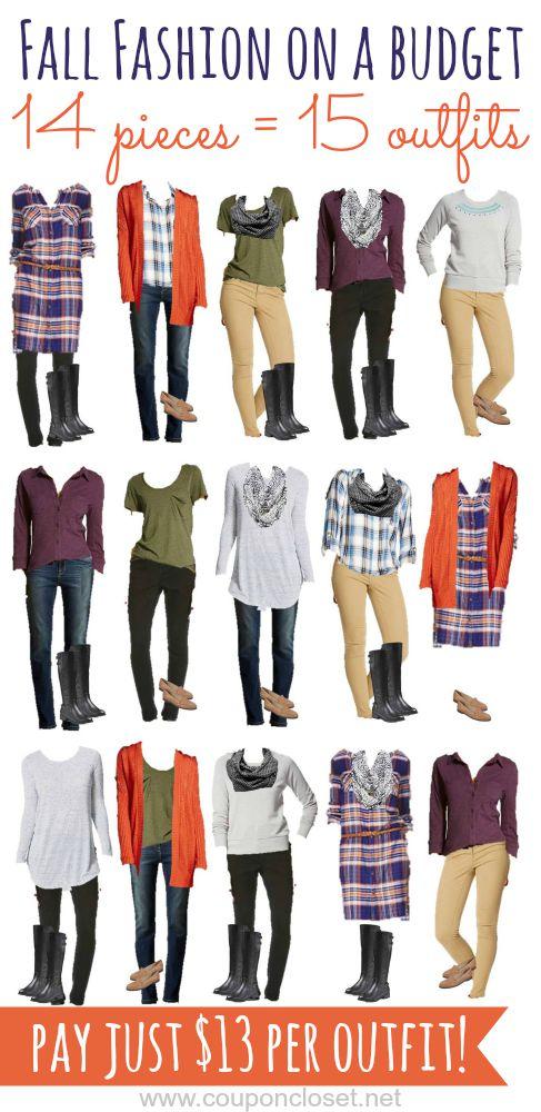 fall fashion on a budget