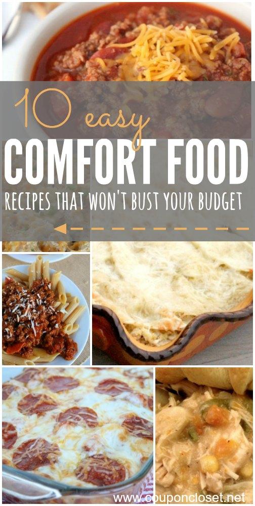10 Easy Comfort Food Recipes One Crazy Mom