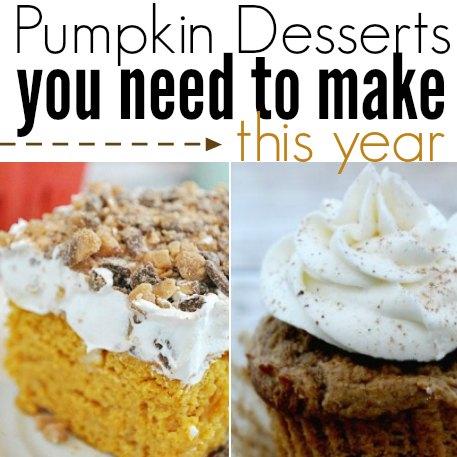can pumpkin desserts square