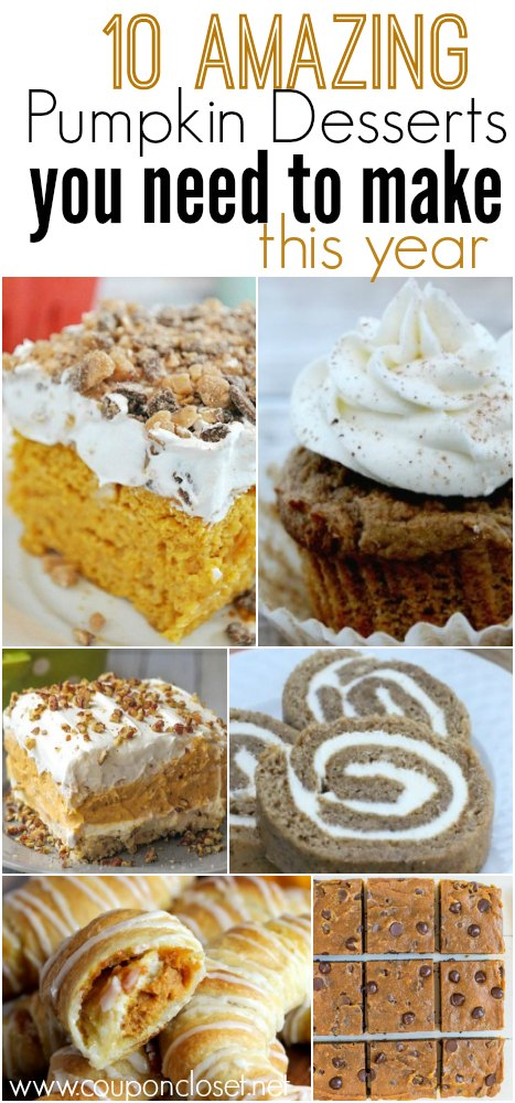 can pumpkin desserts you need to make this year