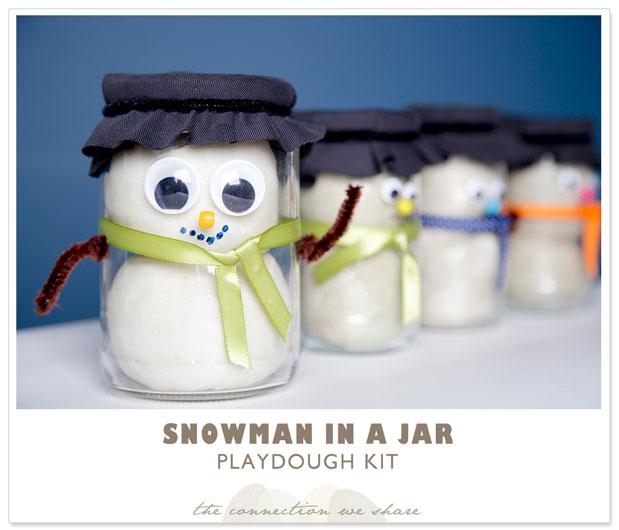 snowman in a jar