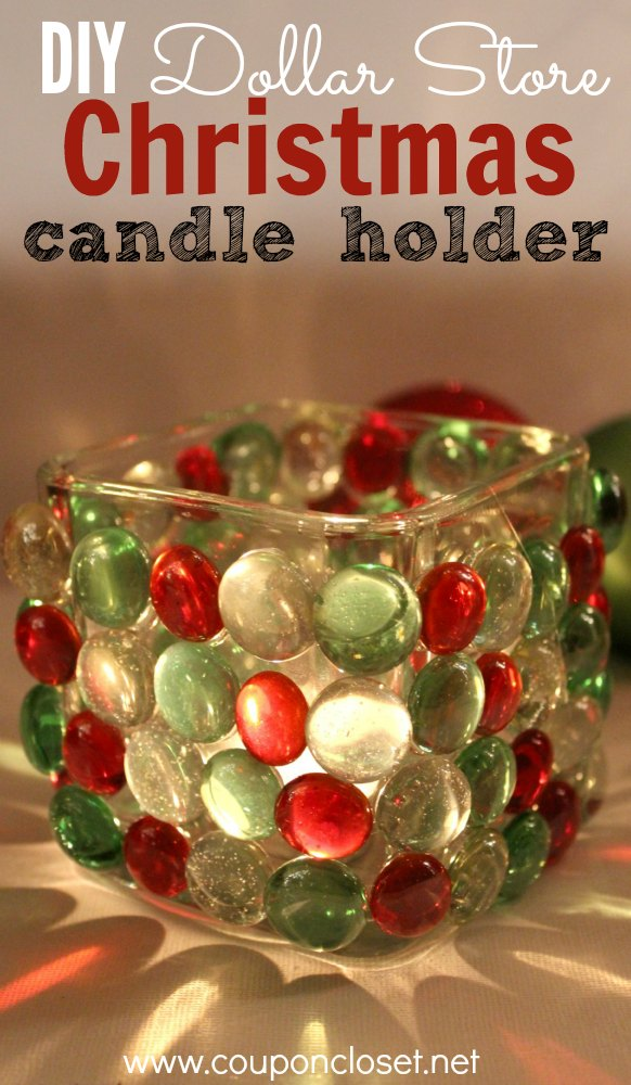 diy christmas candle holder