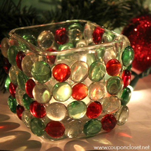 Dollar Tree Christmas Decor And Gift Ideas: Dollar Store Christmas Candle Holder