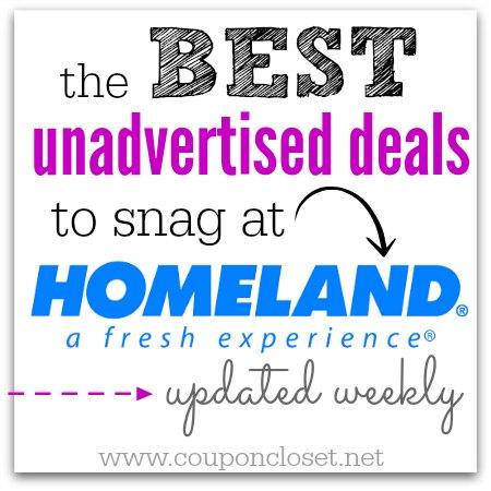 homeland unadvertised deals