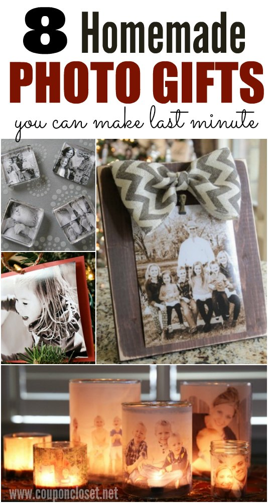 Homemade photo gift ideas